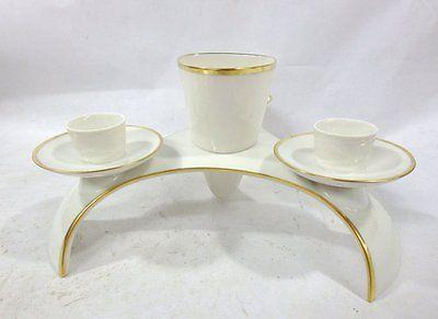 VINTAGE GERMAN ART DECO Hutschenreuther Porcelain VASE Candle Holder Centerpiece