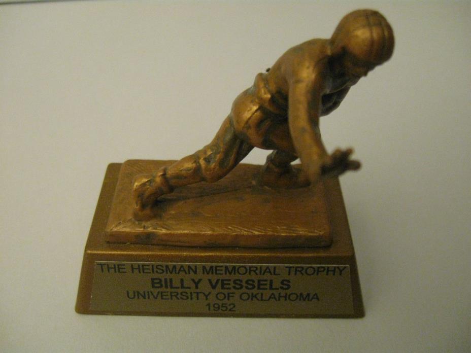 Billy Vessels, Oklahoma Sooners 1952 Heisman Trophy miniature
