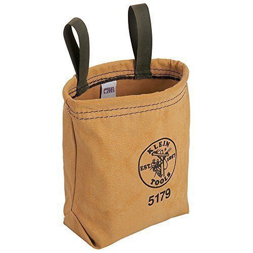 Klein Tools 5179 Water Repellant Canvas Pouch - Belt Loops BN Tool Belt Tools