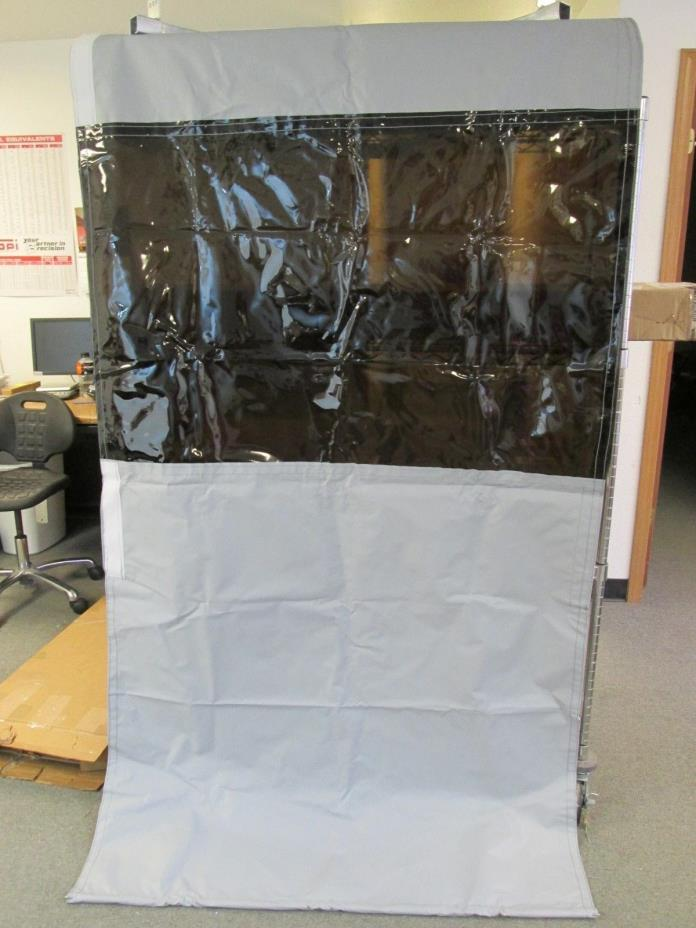 Singer Safety 4 x 10' Curved Welding Curtain Wall Partition Gray Black NEW