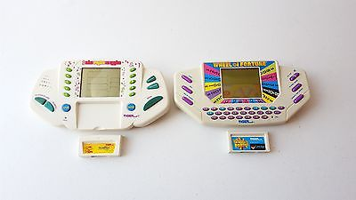 Tiger Wheel of Fortune & The Price is Right Handheld Games w/ Cartridges TESTED
