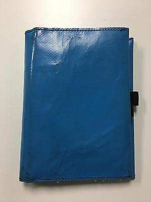 FREITAG Blue Multi Compartment Medium Sized Agenda Book With New Notebook B3025