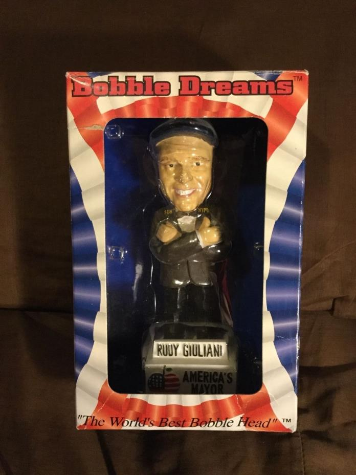 Rudy Giuliani - America's Mayor- Bobble Head  some package wear see pics.