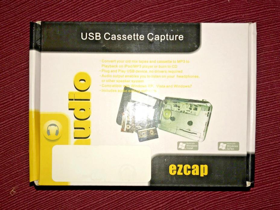Ezcap Portable Tapes to MP3 Music USB Cassette Audio Capture Converter