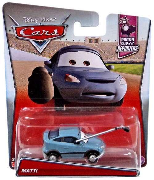 Disney Pixar CARS Diecast 1/55th - MATTI - PISTON CUP REPORTERS Microphone
