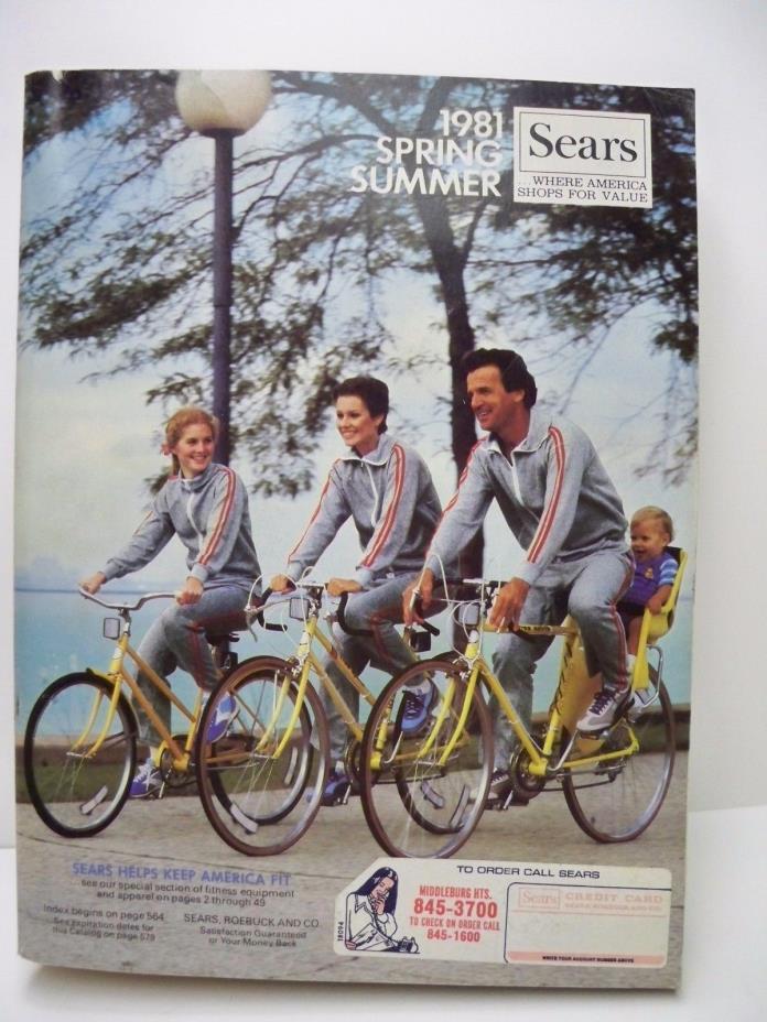 Vintage Sears 1981 Spring & Summer Fashion Catalogue catalog