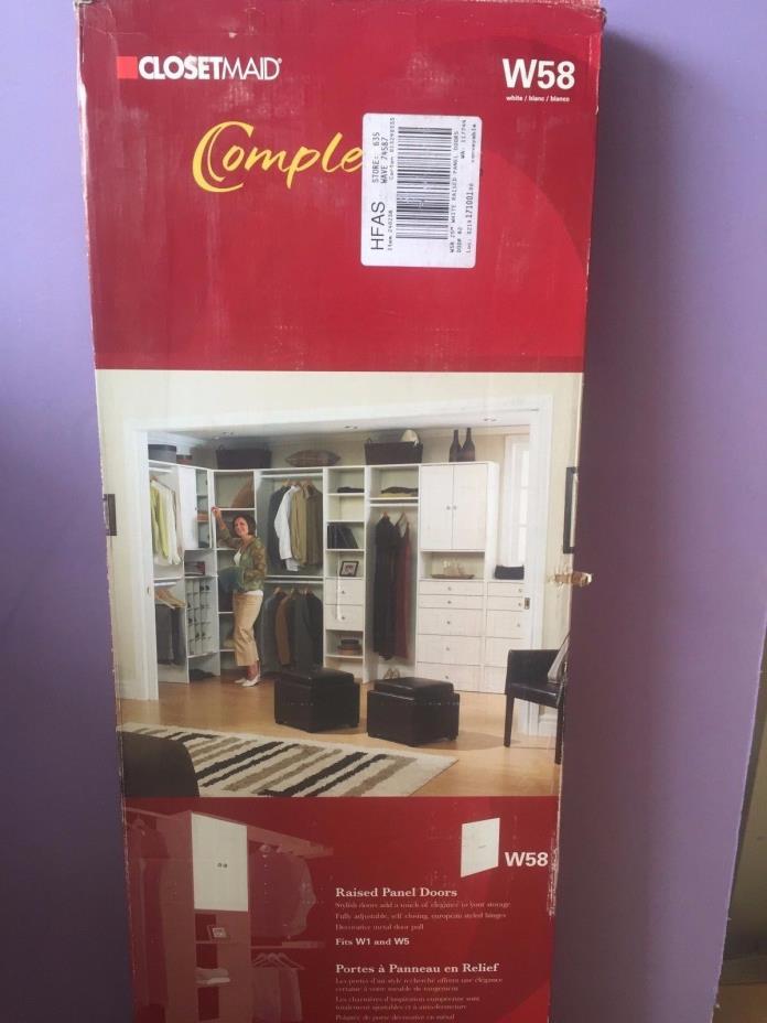ClosetMaid Completions White W58 - Raised Panel Doors