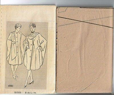 # 4083 Vintage Reader Mail Lined Cape Pattern Sz 8-22 Uncut