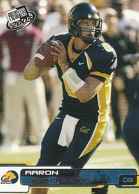 AARON RODGERS 2005 PRESS PASS CARD 9 CAL BEARS GREEN BAY PACKERS ROOKIE