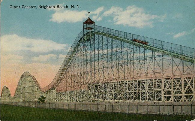 Old Postcard - Giant Coaster - Brighton Beach NY