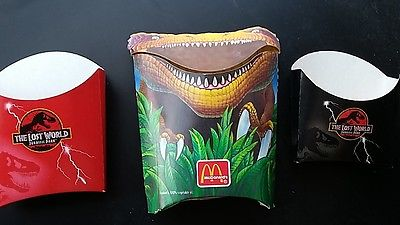 Jurassic Park French Fry Holders set of 3.