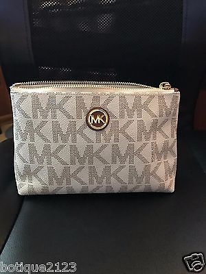Michael Kors cosmetic/make-up bag vanilla