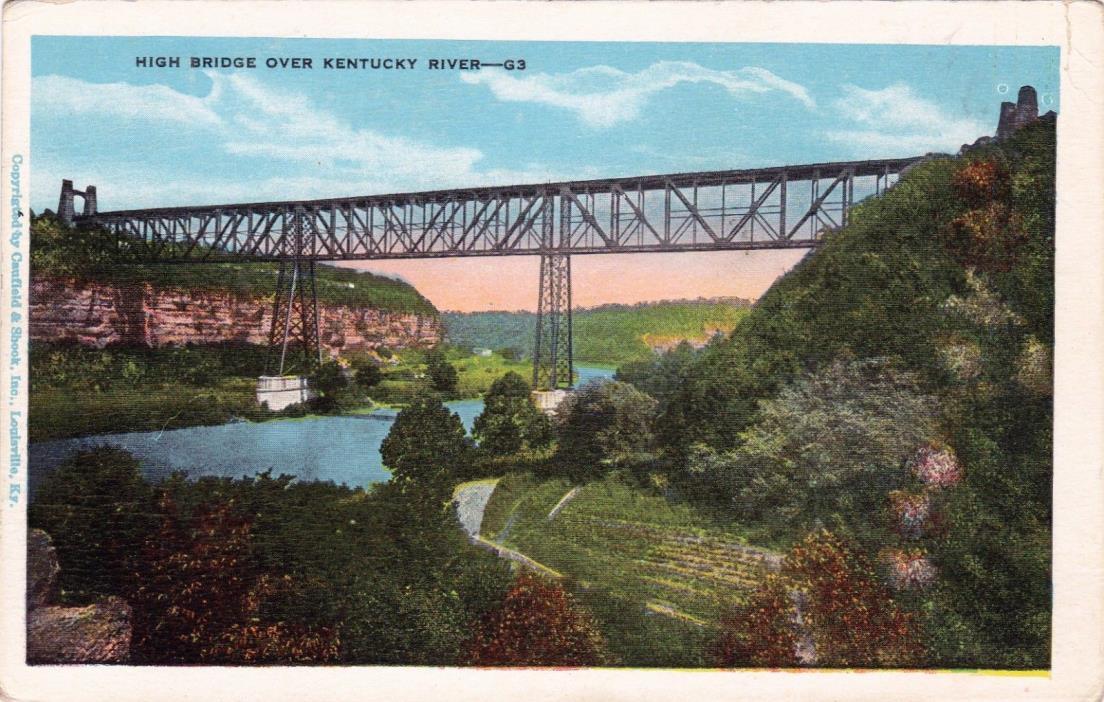 POSTCARD - High Bridge over Kentucky River.