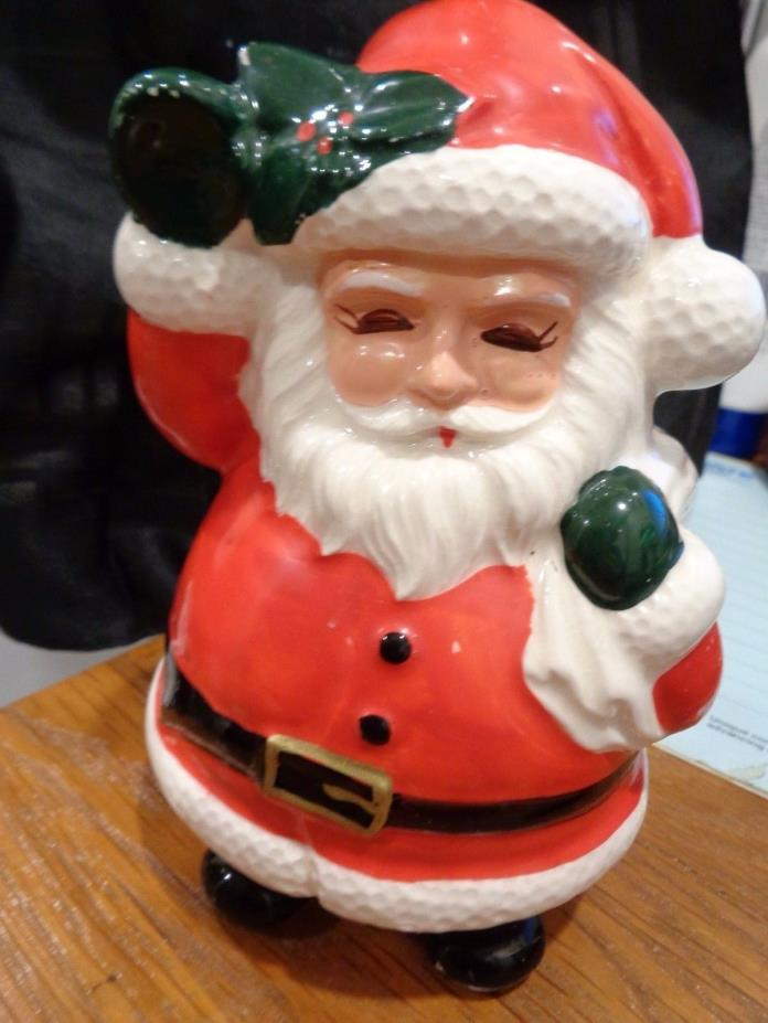 Vintage Lefton Santa with Bag Planter  X-H7058 Christmas Cute as can be!