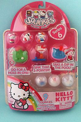Squinkies Hello Kitty Series 6 Sanrio NIP Sports Golf Basketball Pool 2012