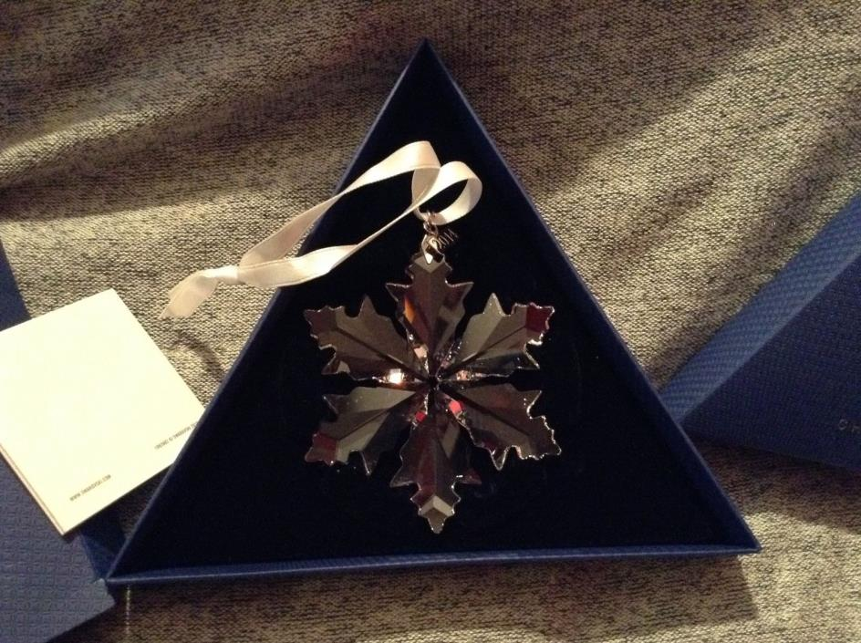 Swarovski Christmas Ornament 2014 Snowflake NIB Original Packaging 5059026