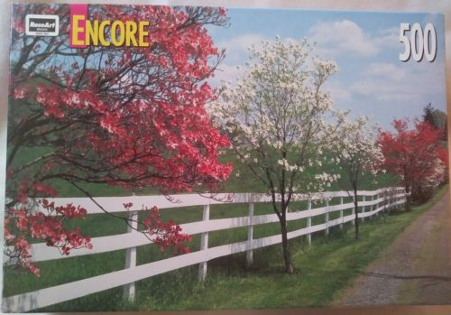 Jigsaw Puzzle 500 Pieces Dogwood & Fence Factory Sealed
