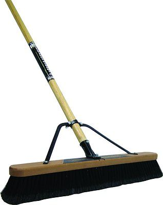 24IN STEEL HNDL POLY PUSHBROOM