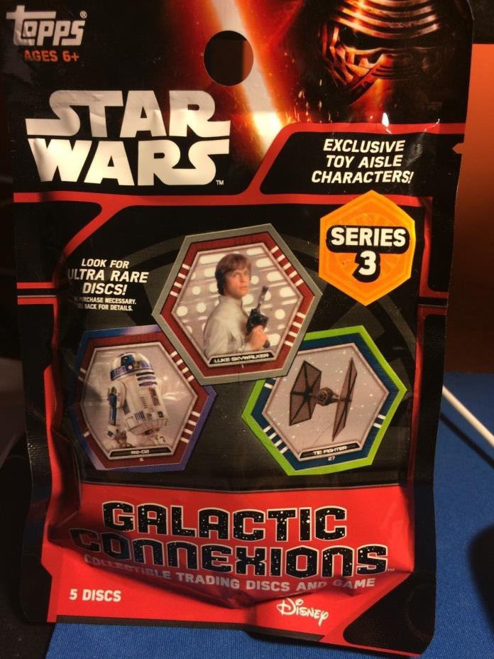 TOPPS  STAR WARS Series 3 Galactic Connections Collectible Trading Discs & Game