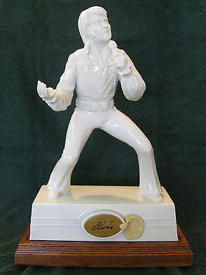 Elvis Presley Decanter/Musical Wood Base by McCormick Distilling Company