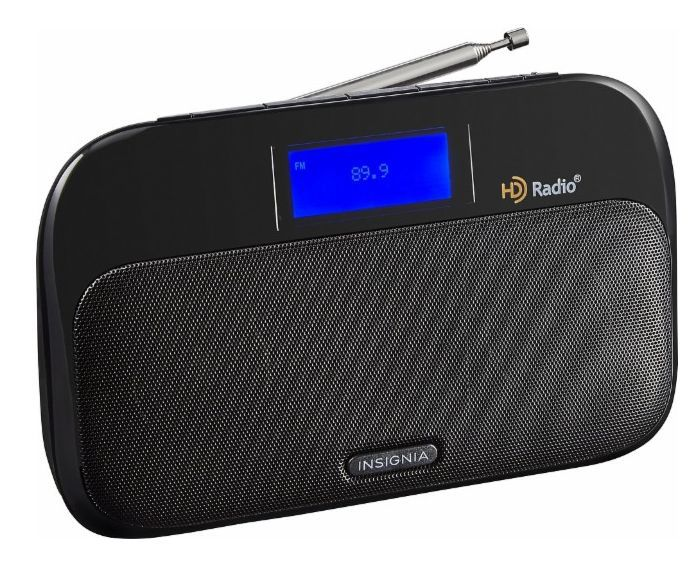New - Insignia Tabletop HD Radio  Black NS-HDRAD2