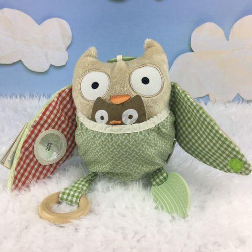 Pottery Barn Baby Owl Plush Toy Animal Friends Hug and Hide Skip Hop NWT