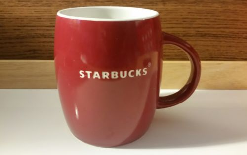Starbucks Holiday Collectible  Christmas Red Coffee Mug Cup Etched Logo 2011