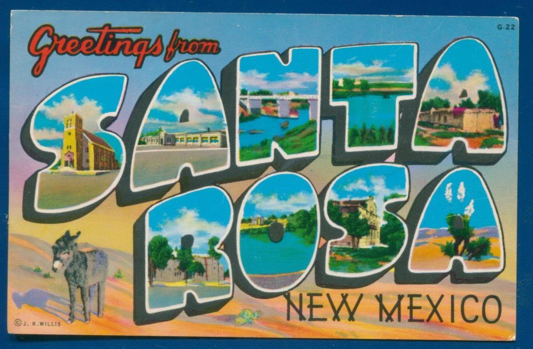 Santa Rosa New Mexico nm Large Letters chrome postcard
