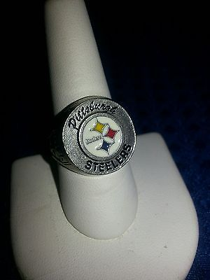 Pittsburgh Steelers pewter ring,Football,Teams size 14