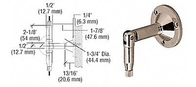 Brushed Nickel Plated Hanger Pipe Base Fittings for Cable Display System