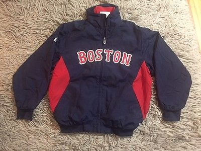 Boston Red Sox Majestic Therma Base On Field Navy Youth Small Zip Up Jacket