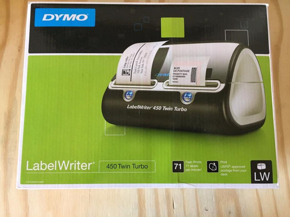 DYMO Label Writer 450 Twin Turbo Label Printer, 71 Labels Per Minute, (1752266)