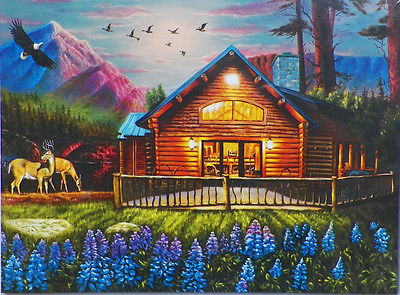 PUZZLE...JIGSAW....ART....RADCLIFF....Cozy Cabin...500 Pc...Sealed