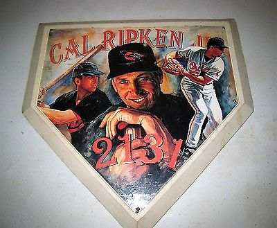 VINTAGE 1996 CAL RIPKEN JR.BALTIMORE ORIOLES 2131 HOME PLATE PLAQUE