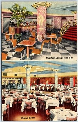 New York City Postcard ZIMMERMAN'S HUNGARIA Restaurant Nightclub Bar Linen 1941