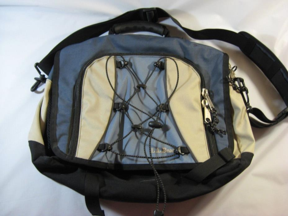 L.L. Bean Multi-Colored Toggle Front Messenger/Lap Top Bag Waist Strap