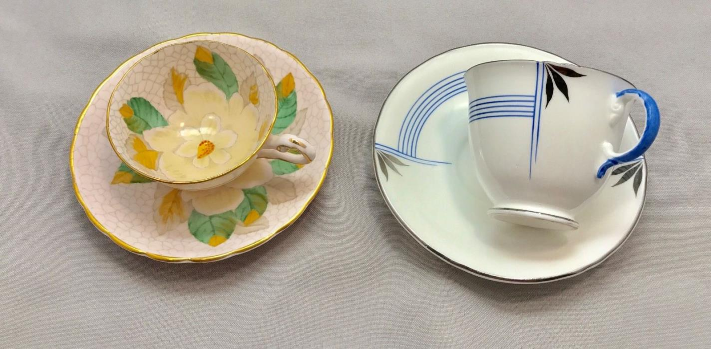 2 Demitasse Cups and Saucers Tuscany and Minton