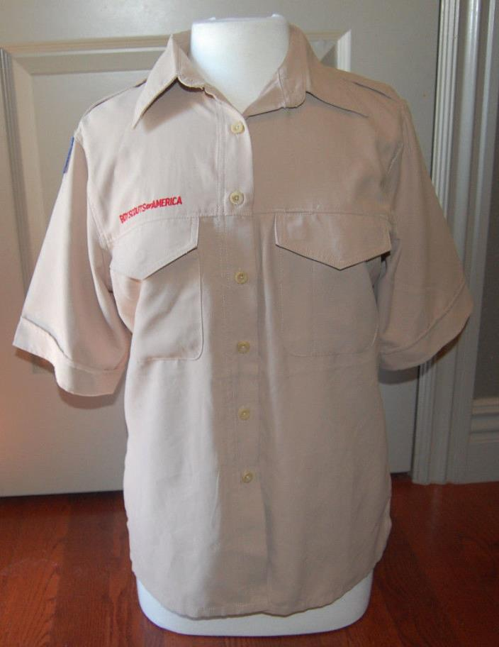 BSA Boy Scouts of America Uniform Shirt Blouse Ladies Sz Small S Women's Khaki