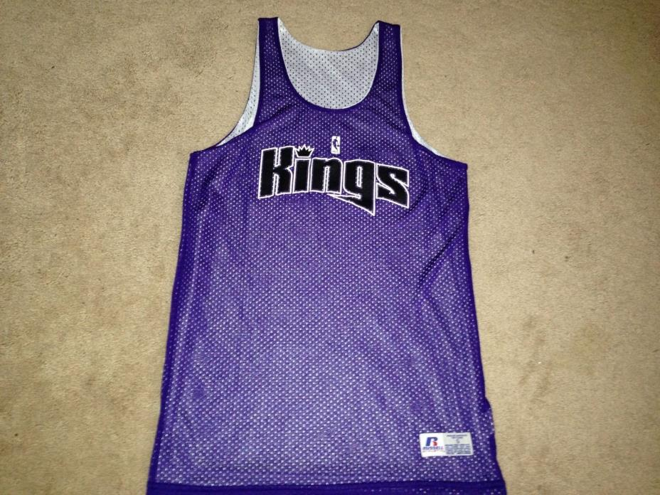 NBA Sacramento Kings Reversible Purple White Russell Practice Jersey Mens Small