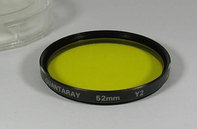 Quantaray 52mm Yellow Y2 Filter for Black & White Photography Made in Japan