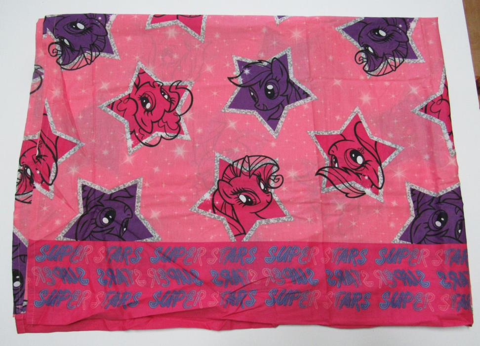 My Little Pony Superstars Twin Flat 96 x 65 Sheet Pink Purple Fabric