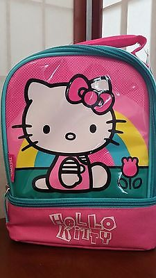 Hello Kitty Lunchbox Durable fabric compartments PVC Free NWT thermos brand