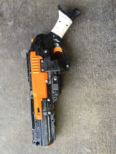 Painted Nerf Sledgefire | Steampunk Mad Max Orange Black White Christmas Alien