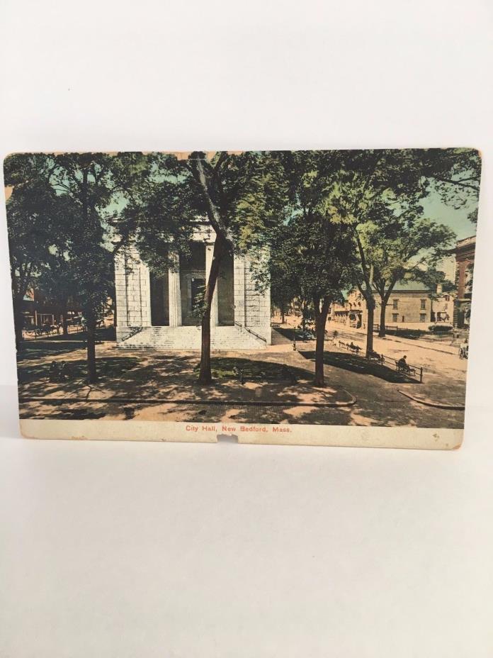 Postcard City Hall  New Bedford Mass MA 1909