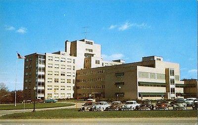 Postcard Michigan Flint McLaren General Hospital 1950s-60s Unused