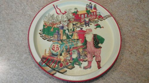 Potpourri Press Santa Claus Christmas Train Tray  1993