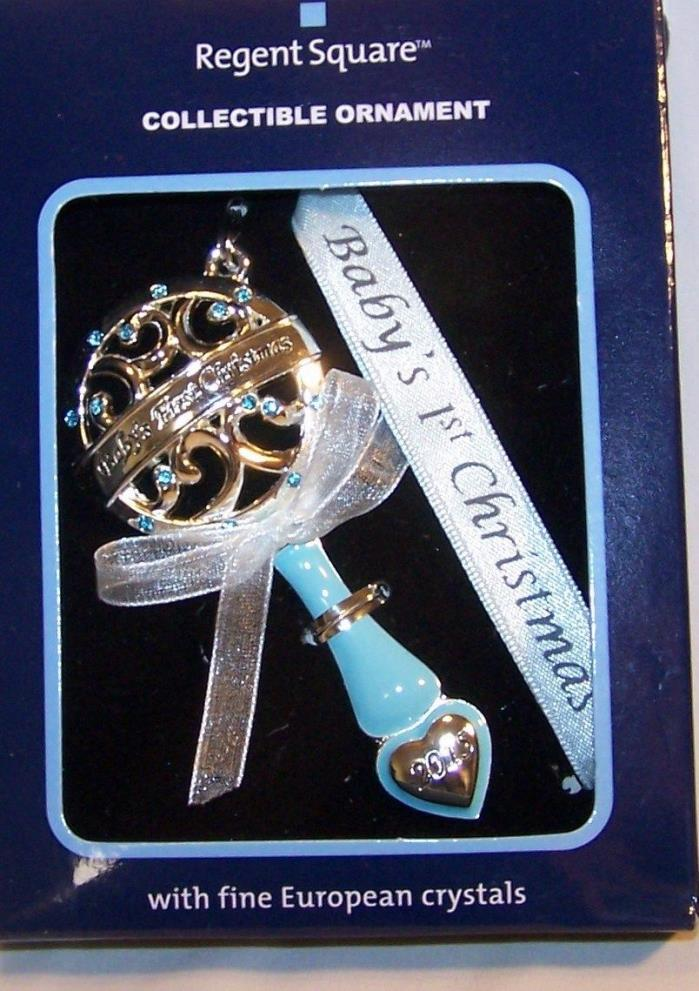 Harvey Lewis Baby's First Christmas Ornament-European Crystals-New