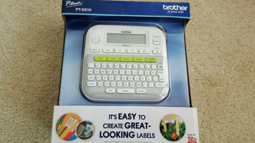 NEW BROTHER P-TOUCH PT-D210 ELECTRONIC LABELING SYSTEMS