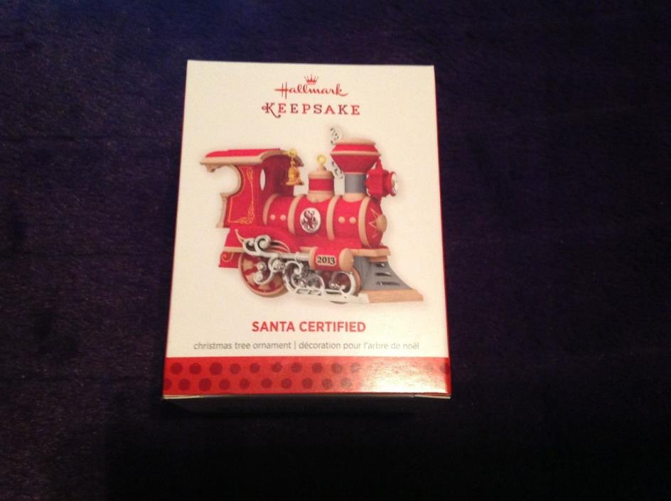 Hallmark 2013 1st in the SANTA CERTIFIED Series NIB Christmas Train