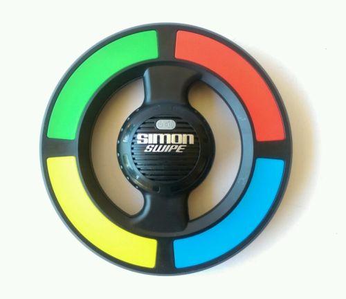 Simon Swipe Hasbro Memory Electronic Travel Handheld Game A8766 2013